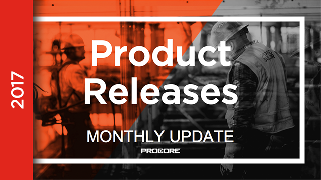 Product Releases: March 2017