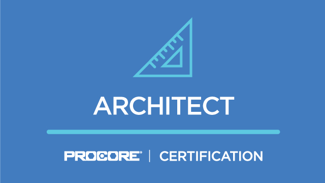 Procore Certification: Architect