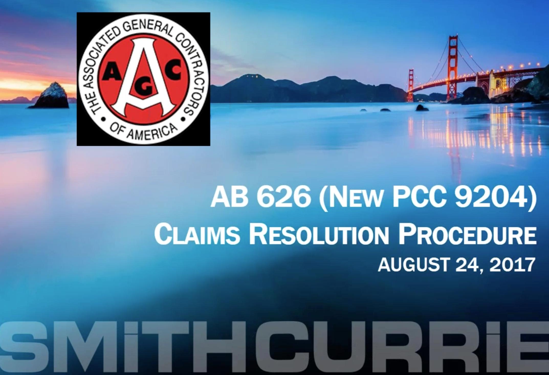 AB 626 - Claims Resolution Procedure