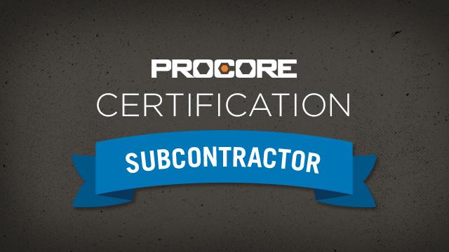 Procore Certification