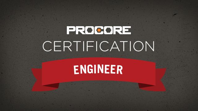 Procore Certification: Engineer