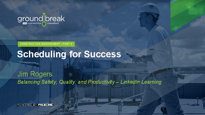 On-Demand GB2017: Construction Project Management Training, Part 2