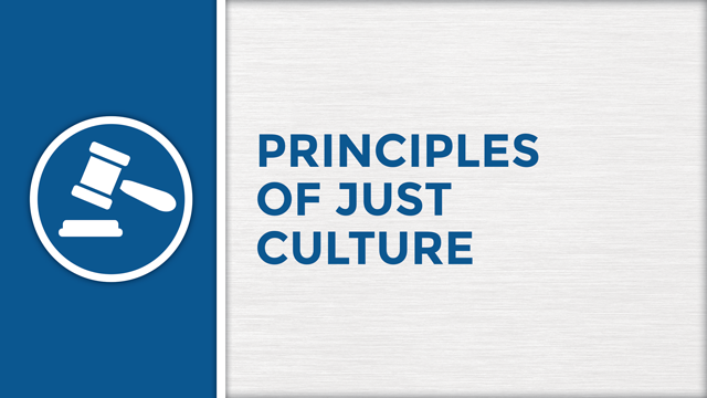 Principles of Just Culture