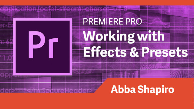 Premiere Pro: Working with Effects & Presets