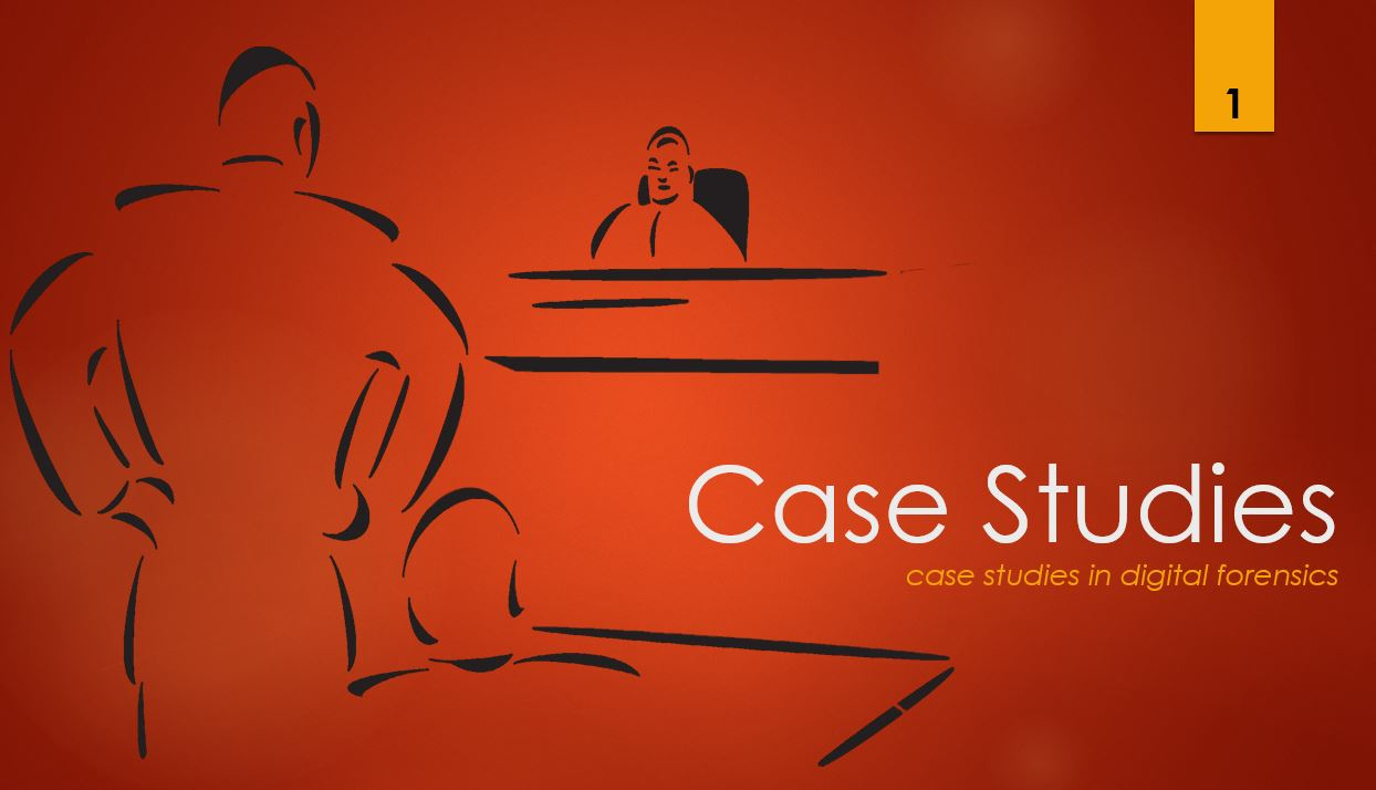Case Studies I, Placing the Suspect Behind Keyboard